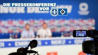 Die Pressekonferenz vor dem Auswärtsspiel bei SV Darmstadt 98