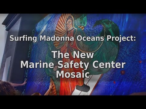 Surfing Madonna Marine Safety Center Mosaic