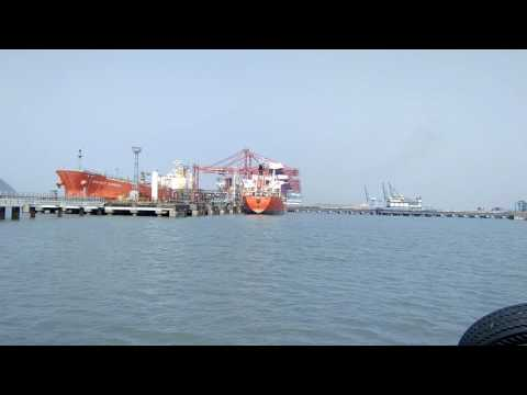 NHAVA SHEVA( JNPT) very busy port of india