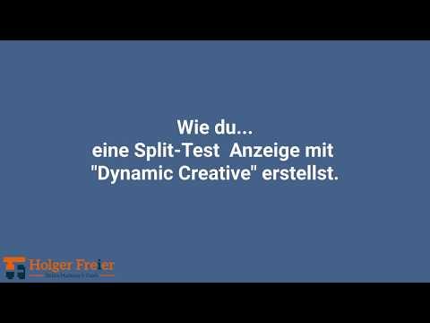 """Wie du eine Split-Test Anzeige mit """"Dynamic Creative"""" erstellst - Facebook Anzeigen"""