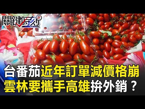台灣番茄薄皮多汁近年卻訂單減價格崩… 雲林要攜手高雄拚外銷? 關鍵時刻20190111-3林佳新
