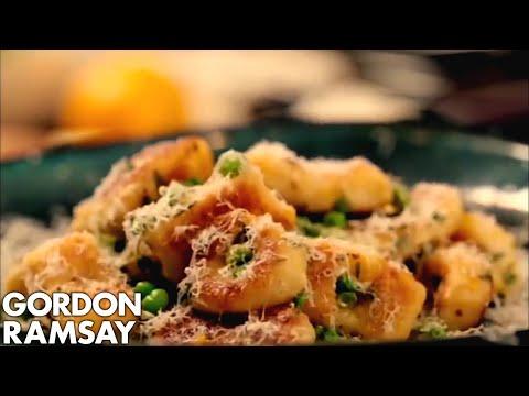 Homemade Gnocchi with Peas and Parmesan - Gordon Ramsay