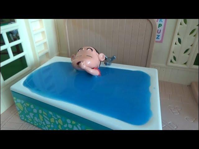 Crayon Shin Chan Bath Time Toys Play Video For Kids