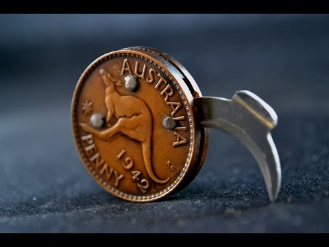 Knife making - making a folding coin knife