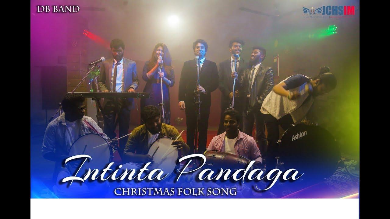 Latest New Telugu Christmas Folk Song 2018 -INTINTA PANDAGA-Manoj David-Enoch Jagan-