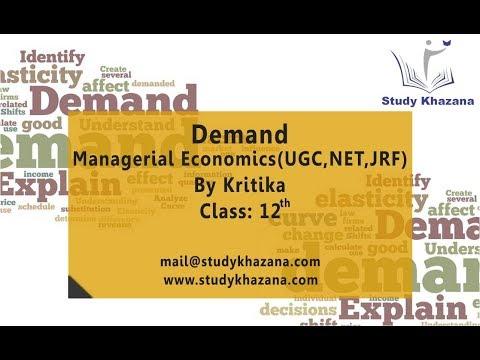 Demand - Class 12 | Kritika | Managerial Economics | UGC | NET