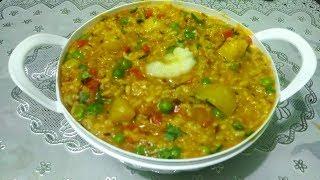 Vegetable Khichdi/Chilka Moong Dal Khichdi/Khichdi in Pressure Cooker Recipe in Punjabi Cooking