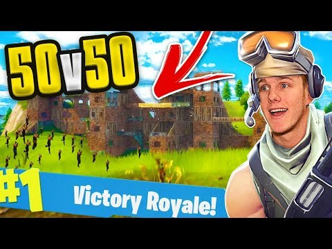 THE BIGGEST BASE EVER! 50v50   FORTNITE BATTLE ROYALE
