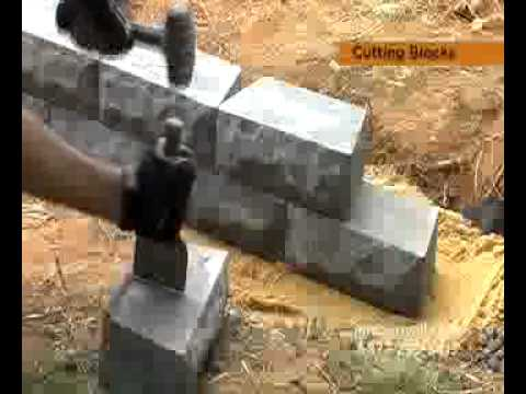 How To Cut Retaining Wall Blocks   YouTube