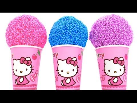 Thumbnail: Hello Kitty Foam Clay KINDER Surprise Eggs Ice Cream Cups Minions Disney Princess RainbowLearning