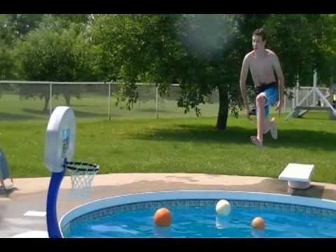 Epic pool basketball trick shots youtube for Obi easy pool