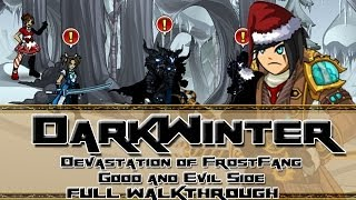AQW: /join DarkWinter Good and Evil side Full Walkthrough (Devastation of Frostfang Event)