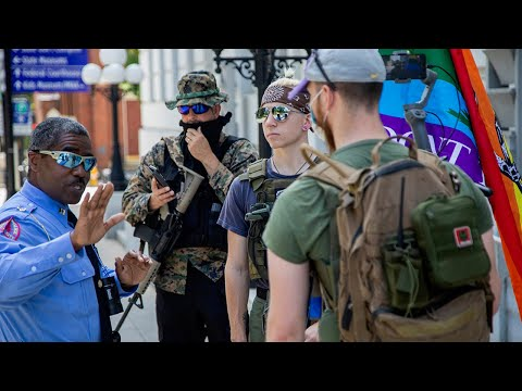 Armed group met by counter-protesters in Raleigh