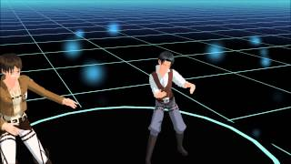 Wave!~Levi and Eren [Attack on Titan] MMD