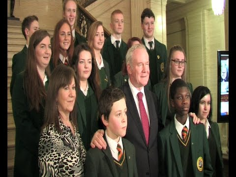 Coláiste Feirste students highlight bias against Irish language during visit to Stormont