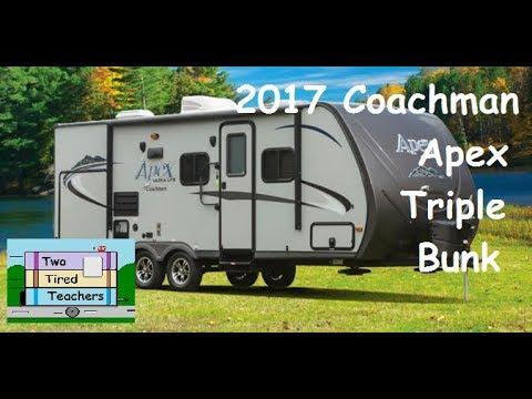 2017 Coachman Apex Ultra Lite Triple Bunk Bed Travel Trailer Youtube
