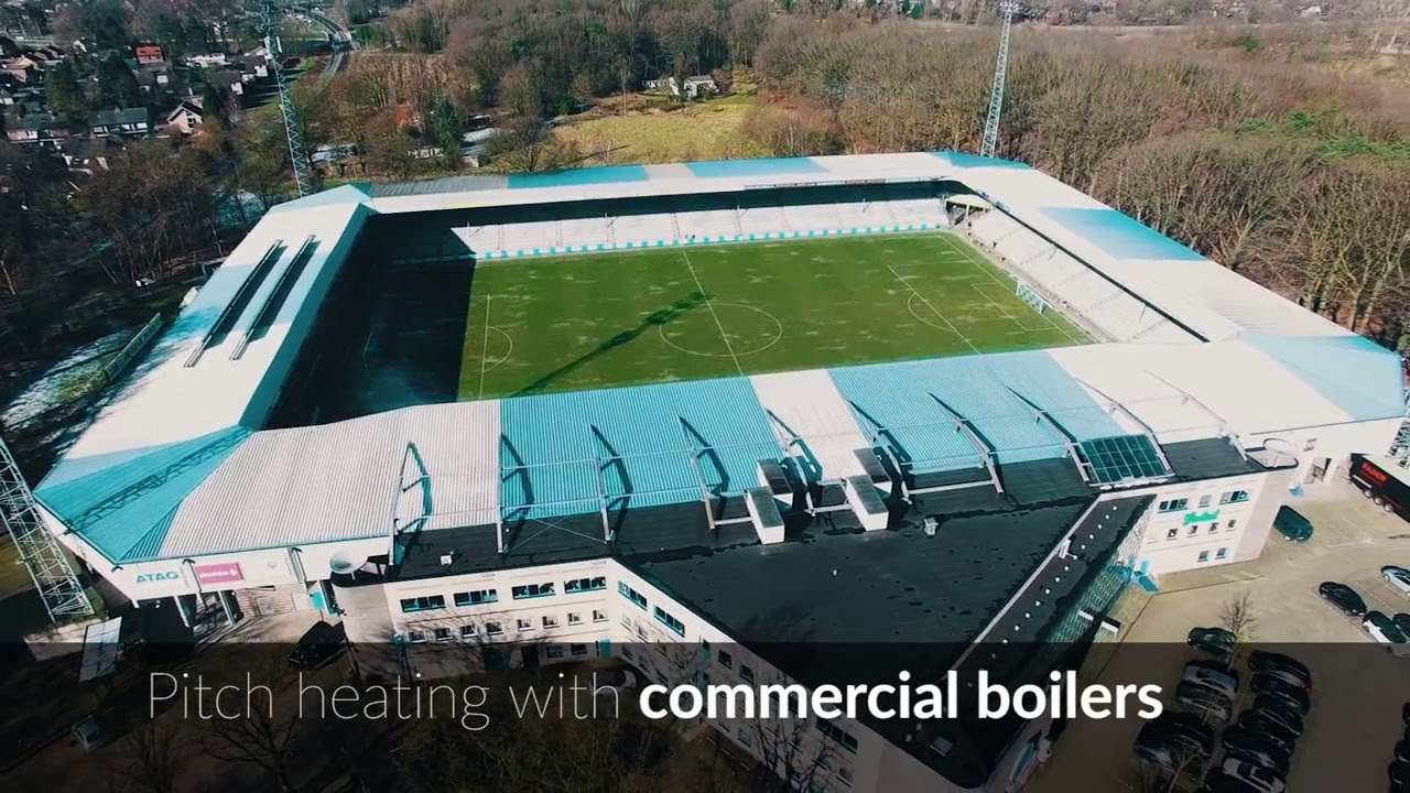 ATAG Heating - Pitch heating with commercial boilers - YouTube