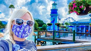 SeaWorld Orlando Reopens | Soaked on Infinity Falls, Opening Day Crowds, Sharks & Empanadas!