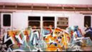 Down in New York city Oldschool Graffiti trains