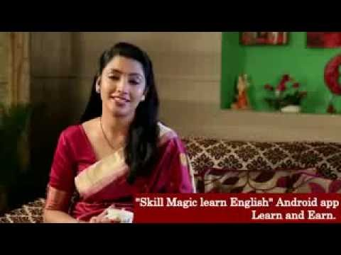 House Wife is Happy For Skill Magic Learn English app