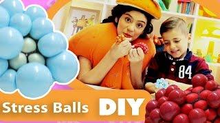 فوزي موزي وتوتي | DIY مع المندلينا | طابات الضغط الصغيرة | Small Stress Balls