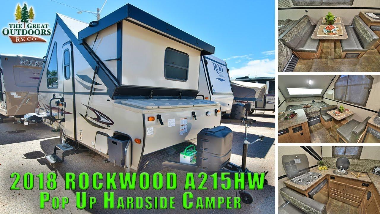 2018 FOREST RIVER ROCKWOOD A215HW Pop Up Hardside Camper RV Colorado Sales  Dealer