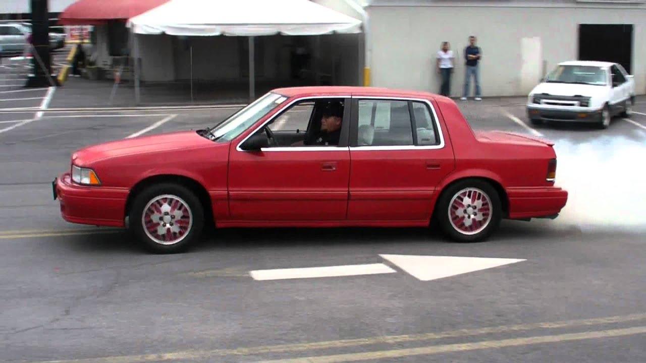 1991 Dodge Spirit RT Turbo Burnout - YouTube