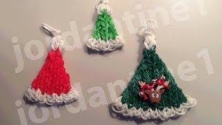 How To Make A Rainbow Loom Christmas Santa Hat Charm - Part 1 14:45
