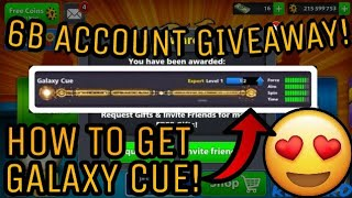 8 Ball Pool - GALAXY CUE!! - 6 BILLION COINS GIVEAWAY! *CLOSED* - LEVEL 227 - 11B COINS WINNER!!