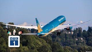 """""""Siêu máy bay"""" Boeing 787-10 Dreamliner về đến Việt Nam"""