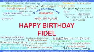 Fidel   Languages Idiomas - Happy Birthday