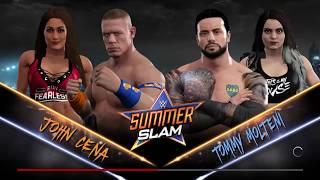 WWE 2K17 // JOHN CENA C/ NIKKI BELLA VS TOMMY MOLTENI C/ PAIGE // SUMMERSLAM