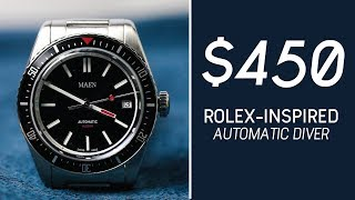 REVIEW: $450 Rolex-Inspired Dive Watch // MAEN Hudson Automatic