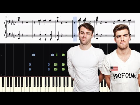 Closer (Chainsmokers & Halsey) - Piano Accompaniment Tutorial + SHEETS