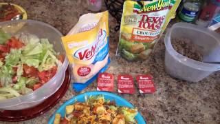 Hamburger Salad With Chickfila Polynesian Sauce