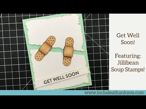 Get Well Soon! Card | Featuring Jillibean Soup Stamps | Simple Alcohol Marker Coloring