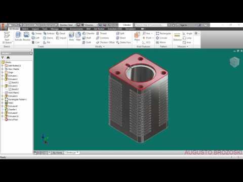 Autodesk Inventor Radial Engine Motor Radial   Cylinder Parts 06 de 12 Parte 02