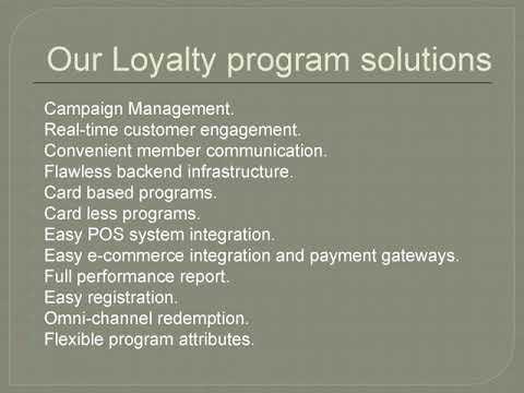 Loyalty Solutions for Online food ordering applica