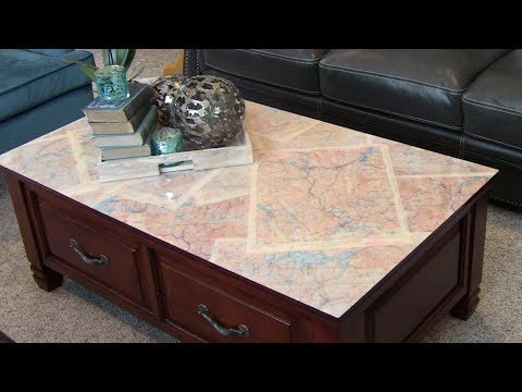 Upcycled Antique Map Epoxy Coffee Table Top DIY