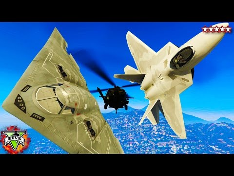 GTA 5 PC Mods - F22 Raptor, B2 Bomber & HH60 Black Hawk - GTA 5 Mod Gameplay! (GTA 5 Mod)