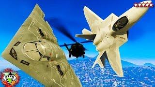 GTA 5 PC Mods - F22 Raptor, B2 Bomber & HH60 Black Hawk - GTA 5 Mod Gameplay! (GTA 5 Mod)