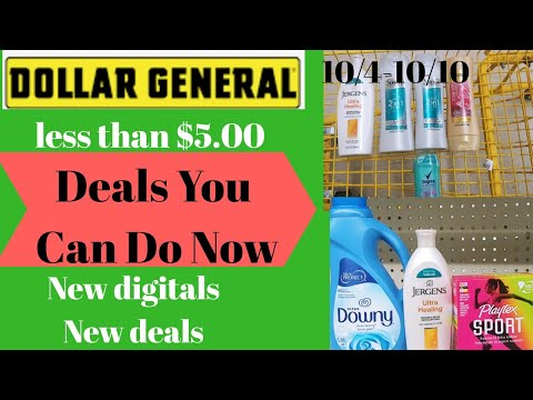 Dollar General Deals You Can Do Now All Digital | 10/4-10/10 Low Oop