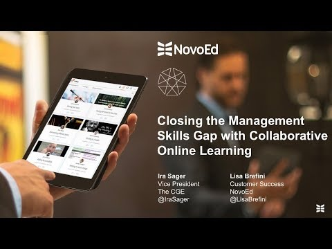 Webinar: Closing the Management Skills Gap with Collaborative Online Learning