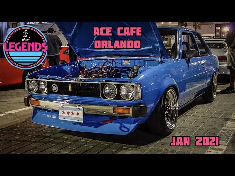 CLASSIC IMPORT NIGHTS | TONS OF RARE IMPORTED JDM CARS | LEGENDS ORLANDO @ACE CAFE | C.F.RACING | 4K