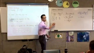 Reviewing Fractions with Algebra and linear algebraic relations