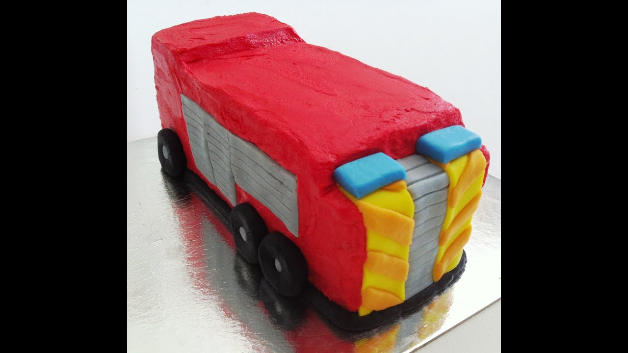 How to Make a Fire Engine Birthday Cake YouTube