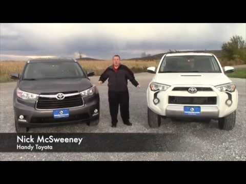 Toyota Highlander Vs Toyota 4Runner >> 2014 Toyota Highlander And 2015 Toyota 4runner For Scott From Nick