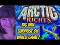 BIG WIN SURPRISE-WHICH GAME? FOREST DRAGONS OR ARCTIC RICHES BONUS