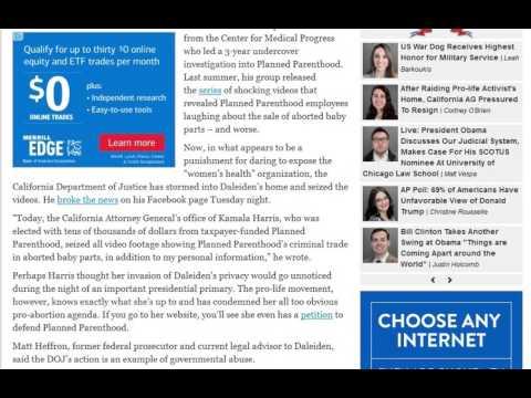 CA DOJ Raids Home of Planned Parenthood Whistleblower