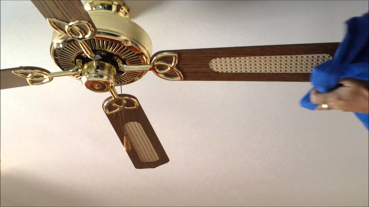 How to clean a dusty ceiling fan youtube how to clean a dusty ceiling fan mozeypictures Images